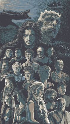 This is my Game of Thrones illustration/poster art tribute for their finished 7th season. I am doing each characters a year ago and this time I joined all of them into one poster.