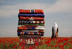 Said Atabekov Korpeshe Flags, 2011 C-print on dibond  67 x 100 cm.