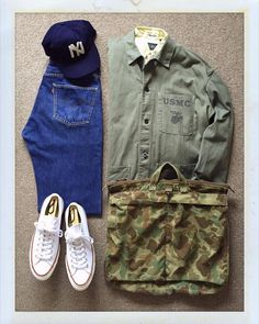 Obsessions — Today's Outfit. Dope Fashion, Mens Fashion, Fashion Outfits, Fashion Fall, Street Fashion, Backpack Outfit, Casual Wear For Men, Outfit Grid, Formal Shirts