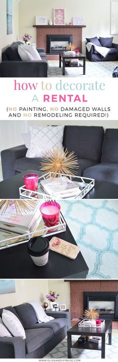 6 great tips and tricks to help you decorate your rental apartment/house/suite without making any major changes that your landlord may not approve of. Time to make your place look like home!