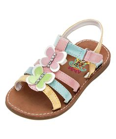 This Rachel Shoes Pastel Opal Sandal by Rachel Shoes is perfect! Baby Girl Shoes, Kid Shoes, Girls Shoes, Little Girl Fashion, Kids Fashion, Huarache, Little Ones, Little Girls, Summer Flats