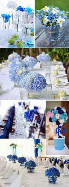 Table decoration in turquoise & blue – Wedding Centerpieces Cheap Wedding Flowers, Spring Wedding Flowers, Wedding Ideas, Boho Wedding, Blue Wedding Decorations, Flower Decorations, Flower Centerpieces, Wedding Centerpieces, Decoration Table