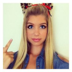Allie DeBerry Talked About What She Is Dressing Up As For Halloween... ❤ liked on Polyvore