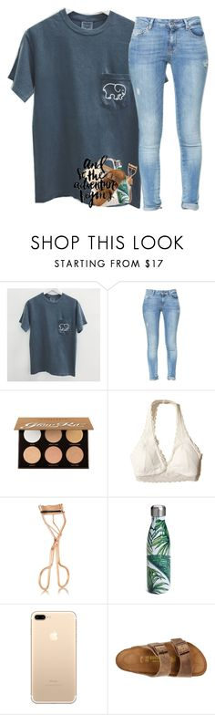 """""""Sorry I haven't posted in a while"""" by abigailcdunn ❤ liked on Polyvore featuring Zara, Anastasia Beverly Hills, Hollister Co., Charlotte Tilbury, S'well, Birkenstock and PAM"""