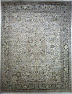 Bone/Grey Kashan Carpet/Rug No. 4383 http://www.alrug.com/4383