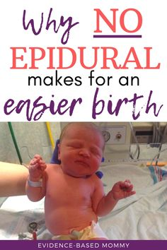 birth or epidural: Which should you choose? Learn why a drug-free, natural birth gives you a better experience and an easier recovery postpartum.Learn why a drug-free, natural birth gives you a better experience and an easier recovery postpartum. Birth Giving, Pregnancy Labor, Pregnancy Cravings, Pregnancy Advice, Pregnancy Information, Childbirth Education, Before Baby, First Time Moms, Baby Hacks