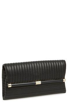 DVF '440' QUILTED LEATHER ENVELOPE CLUTCH