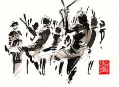 Encres : Capoeira – 643 [ #capoeira #watercolor #illustration]