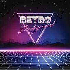 Années 80 style rétro fond Sci-Fi - Illustration vectorielle