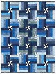 Pieced Lap Quilt & Throw Patterns - Wrap it Up! Quilt Pattern