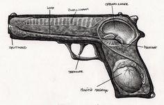 de werking van een pistool. vernietiging zorgt voor nieuw leven?