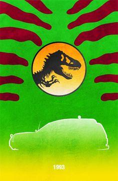21 voitures et véhicules cultes de films en posters minimalistes   Ufunk.net