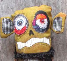 Fester, the zombie, handmade OOAK monster doll by monstermaud on Etsy https://www.etsy.com/listing/557790823/fester-the-zombie-handmade-ooak-monster