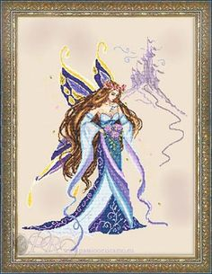 The Fairyland Dreams chart This chart is a limited edition The model is stitched on 20 count linen The stitch count is 227 x 294 which on 32 count