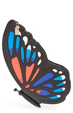kate spade new york 'wing it' leather butterfly clutch available at #Nordstrom