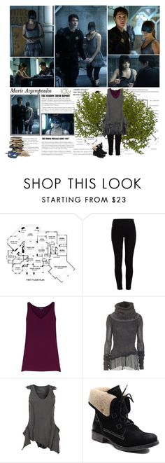 """""""Marie Avgeropoulos as Octavia Blake [The 100 - Season 1]"""" by albacampbell ❤ liked on Polyvore featuring Pieces, Warehouse, Avant Toi, AllSaints, Diba, Guide London and Masquerade"""