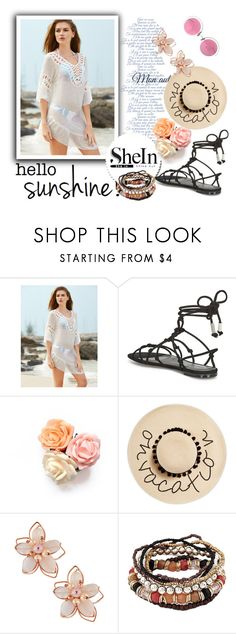 """Untitled #74"" by caroly-i ❤ liked on Polyvore featuring Rebecca Minkoff, August Hat, NAKAMOL and Christian Lacroix"