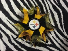 Sporty Bottlecap NFL Football Pittsburgh Steelers by Bowsbykittak