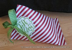 Stamp & Scrap with Frenchie: Sour Cream Container quick for gift wraping