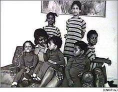Dr. Betty Shabazz and daughters Qubilah Shabazz, Ilyasah Shabazz, Attallah Shabazz, Malikah Shabazz, Gamilah Lumumba Shabazz, and Malaak Shabazz.