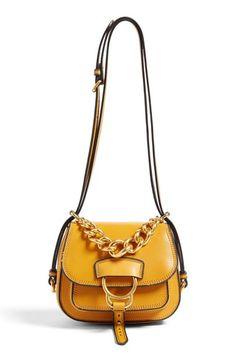 Miu Miu  Dahlia  Goatskin Leather Saddle Bag  26af5de891af7