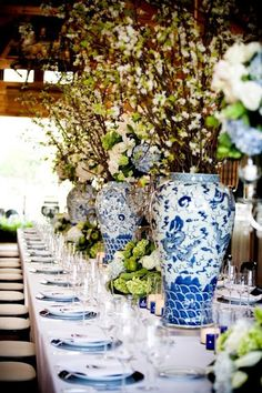 antique vase party decor