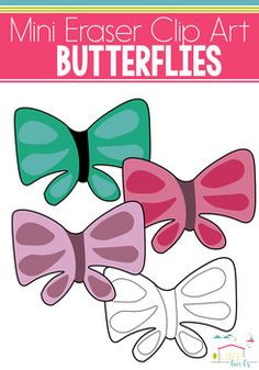 Looking for the perfect clip art to use with your mini erasers? These butterflies are formatted to coordinate with the butterfly mini erasers that were found in the Target Dollar Spot. THIS IS A PART OF OUR MINI ERASER GROWING BUNDLE:Mini Eraser GROWING BUNDLEYou will receive 4 Butterfly Mini Eraser PNG Images which are 300dpi.Included in this set:3 Colored Butterfly Mini Eraser Images1 Blackline Butterfly Mini Eraser ImageTerms of Use: The clip art may be used in educational commercial…