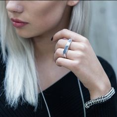 Our new Treo double finger and Maile bracelet in stainless steel // $50 & $70 // worldwide shipping available // vitalydesign.com #vitaly #fashion #doublefingerring #women
