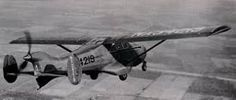 The Waco Model W Aristocraft was an American four-seat monoplane and had an unusual configuration with an engine mounted at the front driving a pusher propeller at the rear.