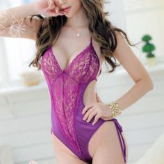 Purple sexy lingerie New, xs/s. Available in black and purple Intimates & Sleepwear Shapewear