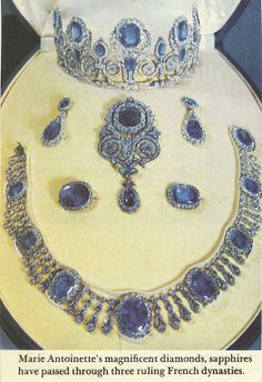 French Crown Jewels- Sapphire and Diamond Tiara