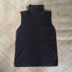 7fae3b2a381682 S M 90s Ellen Tracy wool silk sleeveless turtleneck sweater minimal Linda  Allard for Ellen Tracy min