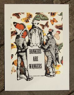BANKERS ARE WANKERS Carrie, Screen Printing, Gallery, Prints, Art, Silk Screen Printing, Roof Rack, Printmaking