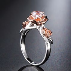 I absolutely LOVE this ring message me if you want to order oneFree Shipping Worldwide Natural Topaz Rose Flower Crystal Engagement Ring Beauty And The Beast Gemstone 925 Sterling Silver BandFIRST 50 People to order get a further $5 off