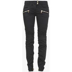 Balmain Silk and cashmere sweater ($1,175) via Polyvore featuring tops, sweaters, skinny leg jeans, super low rise skinny jeans, balmain, skinny biker jeans and biker denim jeans