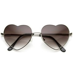 7c3b57ba7f Black Friday Small Thin Metal Heart Shaped Frame Cupid Sunglasses from  Unknown Cyber Monday