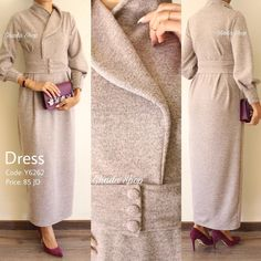 Hijab Gown, Hijab Outfit, Casual Work Outfits, Modest Outfits, Abaya Fashion, Fashion Dresses, Fashion Clothes, Modele Hijab, Abaya Designs