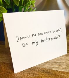 Excited to share the latest addition to my shop: Will you be my bridesmaid card, Be my Bridesmaid card, Funny bridesmaid card , Hand lettered card, bridal party card Ask Bridesmaids To Be In Wedding, Will You Be My Bridesmaid Gifts, Bridesmaid Proposal Cards, Asking Bridesmaids, Be My Bridesmaid Cards, Bridesmaids And Groomsmen, Bridesmaid Boxes, Fun Bridesmaid Gifts, Bridesmaid Request Ideas