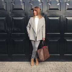 Grey & Camel a Autumn favourite of mine   Fashionmumof40 On Instagram