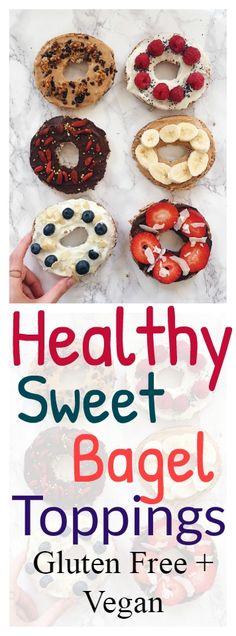 Healthy Bagel Toppings #vegan #recipe #glutenfree #healthy #bagel  #toppings #healthyrecipe #lunch #snack #dessert