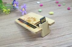 Memoria pendrive tarjeta USB madera H600K   USB-MEMORIAS