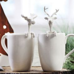 Reindeer & Moose Holiday Mug #relishthis