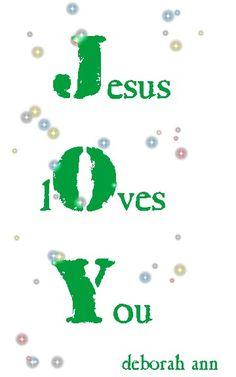 JOY ~     CHRISTian ~ poetry by deborah ann