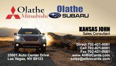 2015 Subaru Outback Business Card ID# 21347