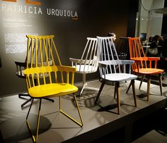 Milano Salone del Mobile 2012: Comback chairs by Patricia Urquoila for Kartell