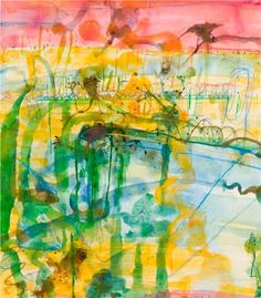Sunset at the Lily Pond by John Olsen