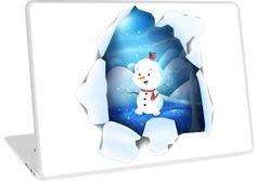'Tear It! ~ Snowbaby Line' Laptop Skin by We ~ Ivy Framed Prints, Canvas Prints, Art Prints, Presents For Friends, My Themes, Website Themes, Good Cause, Laptop Skin, Ipod Touch