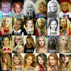 "She isn't ""a different Taylor"" she is just growing up.  You can't expect her to look the same as when she was 16."