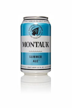 Started by three longtime friends, the Montauk Brewing Company was founded  and based on the lifestyle of the founders' hometown.  New York based  Ammirati developed this design and centered the brand development to  include successive beer styles in a consistent way.