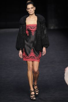 Knitted cardigan by Ermanno Scervino.  Fall 2009 RTW